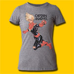 Captain Marvel Flight Fight Girls Tri-Blend T-Shirt