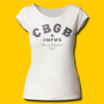 CBGB & OMFUG Black Logo Girls Cut T-Shirt