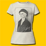 Debbie Harry Beret Vintage White Girls T-Shirt
