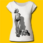 Debbie Harry Vulture Vintage White Girls T-Shirt