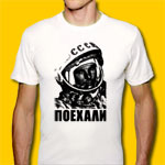 Gagarin White T-Shirt