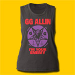 GG Allin I'm Your Enemy Girls Muscle Tank