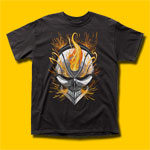 Ghost Rider Flaming Skull T-Shirt