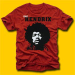 Jimi Hendrix Classic Rock Red T-Shirt