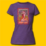 Janis Joplin Avalon Ballroom Girls Heather Purple T-Shirt
