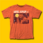 Janis Joplin Singing Heather Orange T-Shirt
