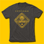 Journey Gold Departure Mineral Wash Black T-Shirt