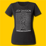 Joy Division Unknown Pleasures Girls Black Crew T-Shirt