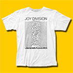 Joy Division Unknown Pleasures White T-Shirt