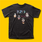 KISS Self Titled Album Black T-Shirt