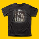 KISS Dressed To Kill Black T-Shirt