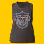 L.A. Guns Logo Girls Vintage Black Tank
