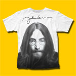 John Lennon Face White T-Shirt