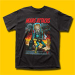 Mars Attacks City Destruction Movie T-Shirt