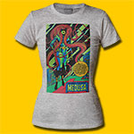 Medusa Blacklight Inhumans Heather Grey Girls T-Shirt