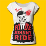 Misfits Ride Johnny Ride Girls Cut T-Shirt