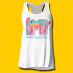 MTV Spring Break Girls Soft Flowy Tank