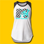 MTV Checkered Girls Cut Raglan