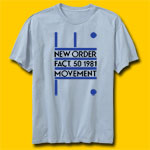 New Order Fact. 50 1981 Fitted Jersey T-Shirt