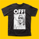 OFF! Surfer Boyfriend Black T-Shirt