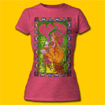 Pink Floyd Poster Pink Heather Soft Girls Tee