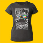 Pink Floyd The Dark Side of the Moon 1972 Tour Girls Distressed Tee