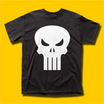 The Punisher White Logo T-Shirt