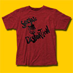 Social Distortion Mainliner Single Heather Red T-Shirt