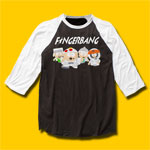 South Park Fingerbang Black & White Baseball Jersey