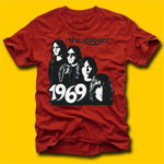 The Stooges Vintage Red Rock T-Shirt