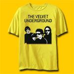 Velvet Underground  Band Yellow Vintage T-shirt