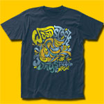 Woodstock Dove Font Light Navy T-Shirt