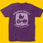 Woodstock Festival Purple T-Shirt